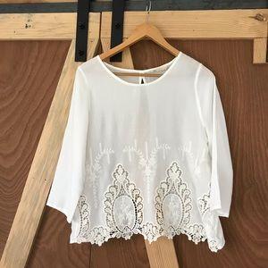 Iris Los Angeles Open Back Blouse 💫 White ⭐️ Med